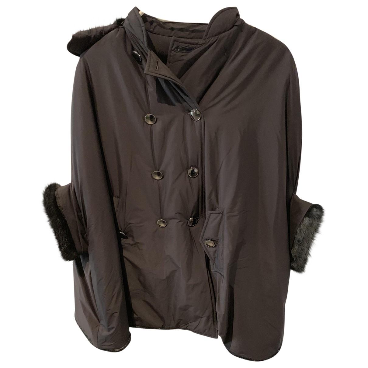 Emporio Armani \N Black coat for Women 38 FR