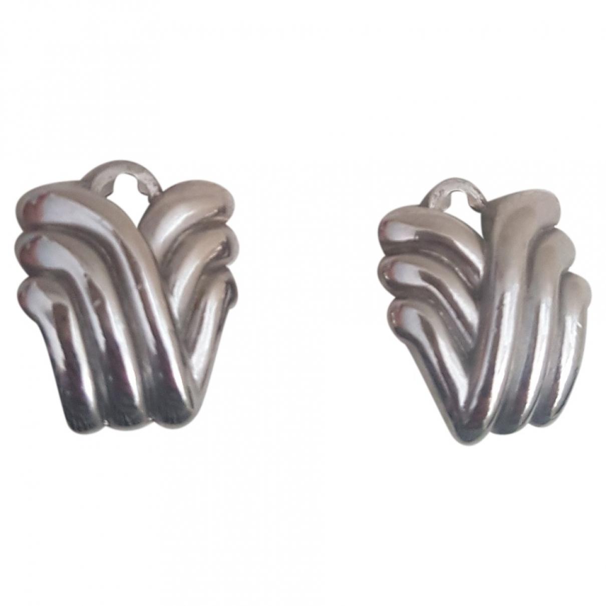 Lanvin \N Silver Steel Earrings for Women \N