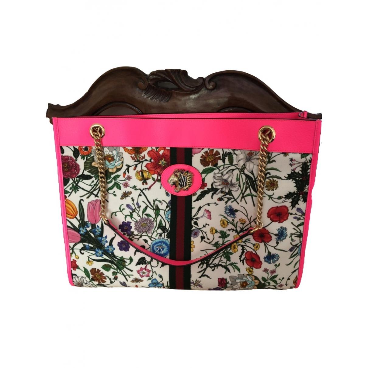 Gucci Rajah Multicolour Cotton handbag for Women \N