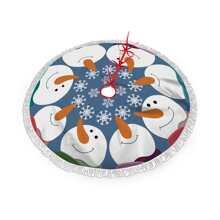 Snowman Print Christmas Tree Skirt