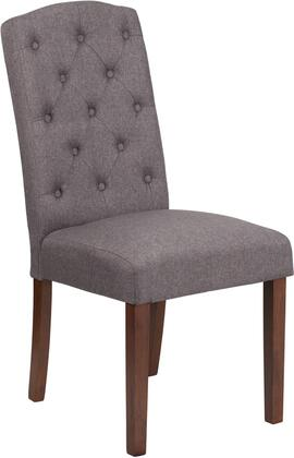 QY-A18-9325-GY-GG Hercules Grove Park Series Gray Fabric Tufted Parsons