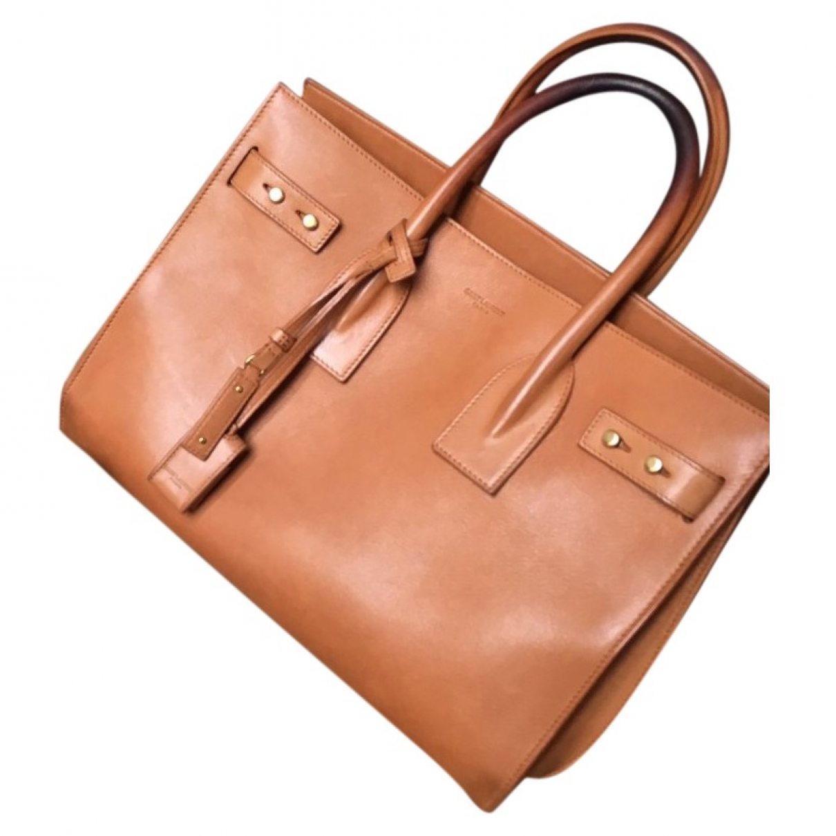 Saint Laurent Sac de Jour Camel Leather handbag for Women \N