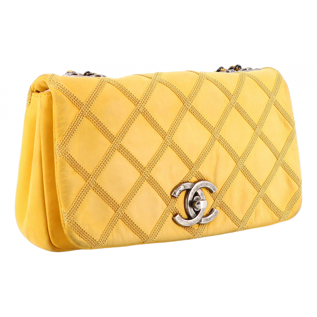 Chanel \N Handtasche in  Gelb Leder