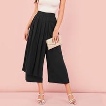 Schwarz Reissverschluss  Einfarbig Elegant Hosen