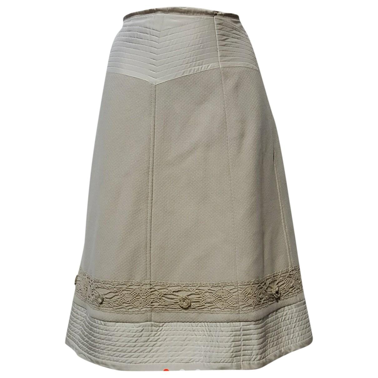 Max Mara Weekend \N Beige Velvet skirt for Women 42 FR