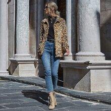 Leopard Oversized Teddy Jacket