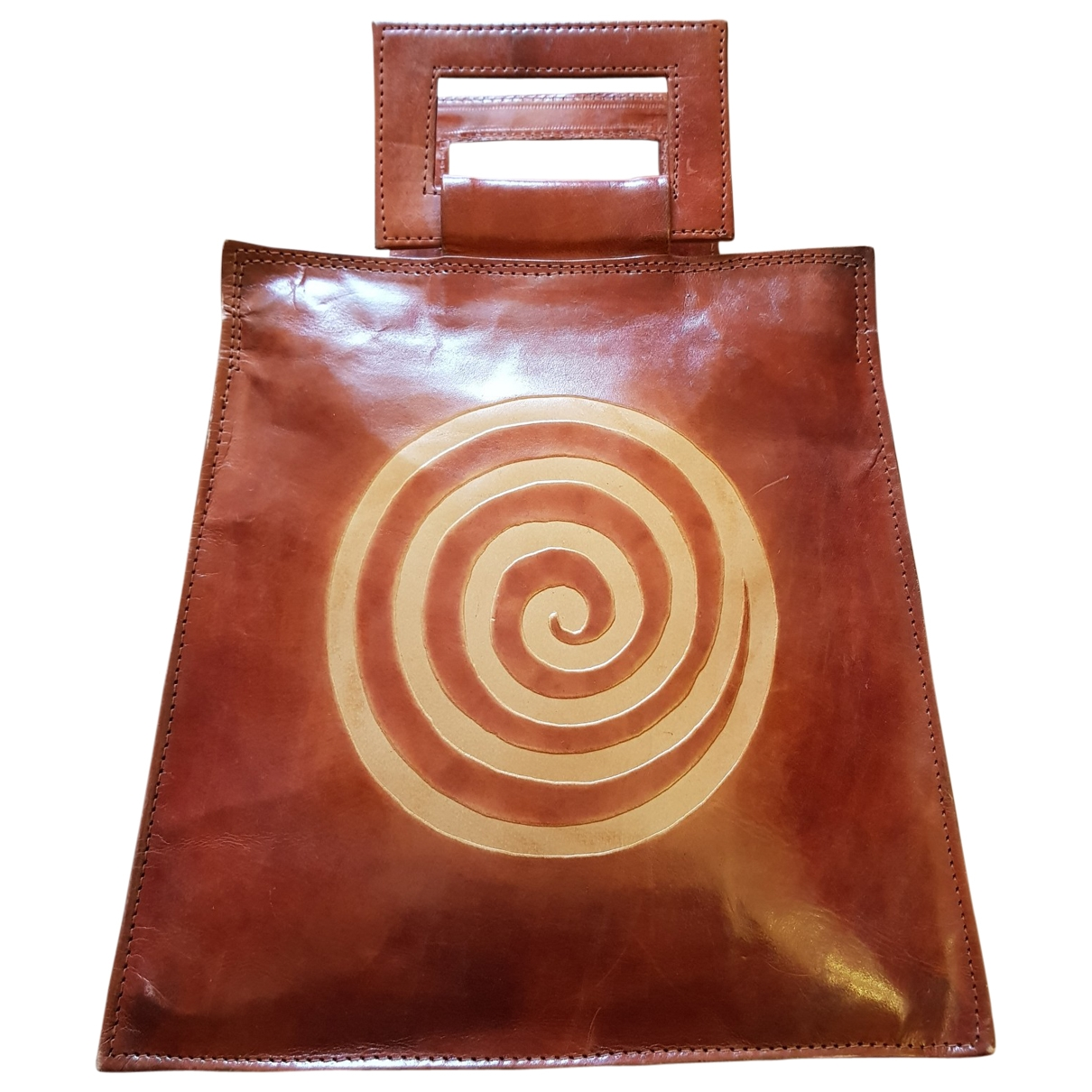 Non Signé / Unsigned \N Brown Patent leather handbag for Women \N