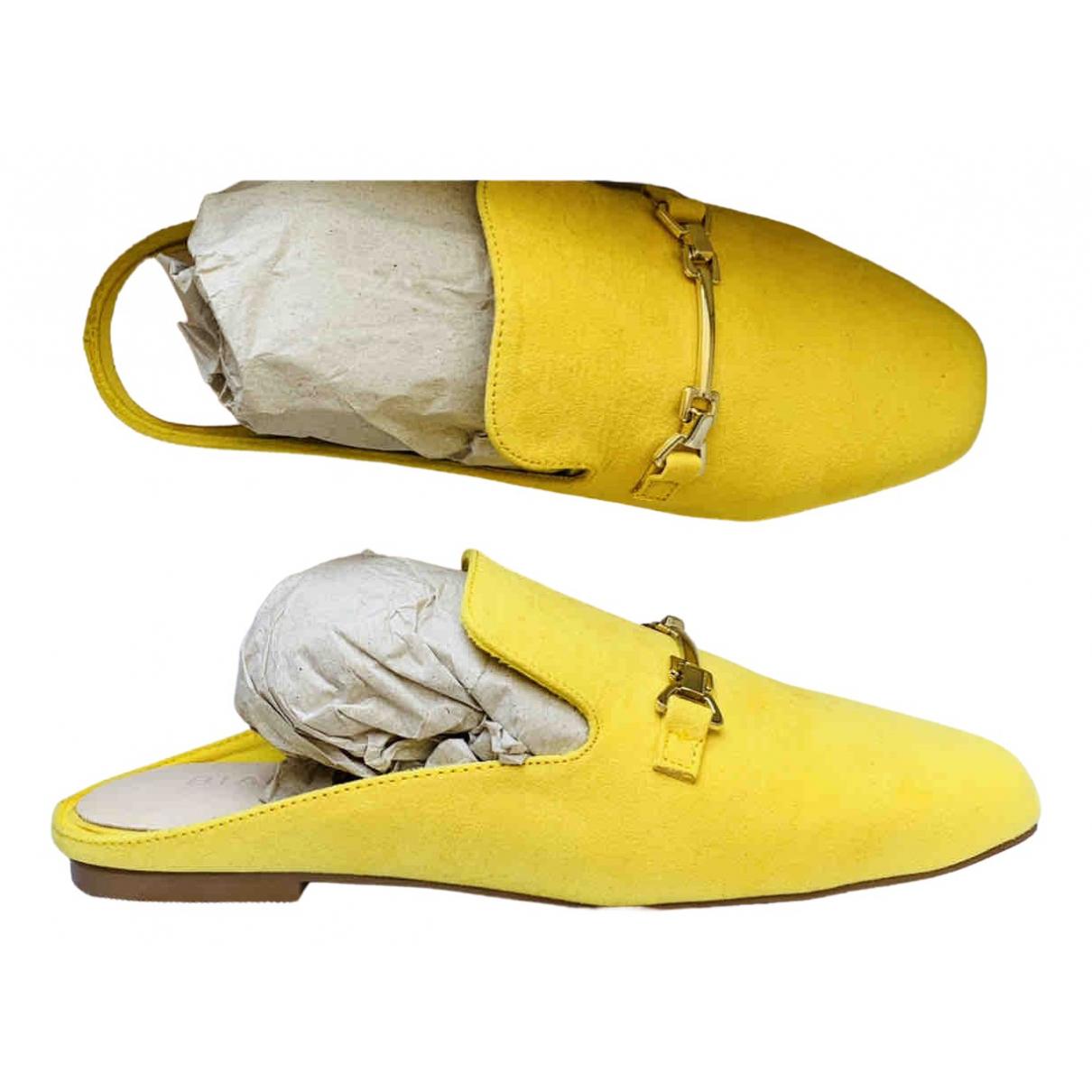 Bianco - Mocassins   pour femme en suede - jaune