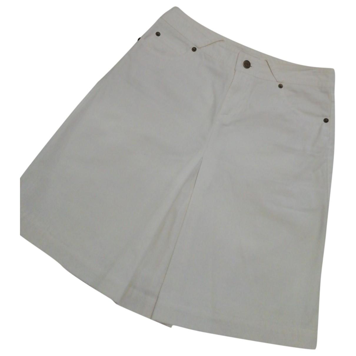 Burberry \N White Cotton skirt for Women 36 FR