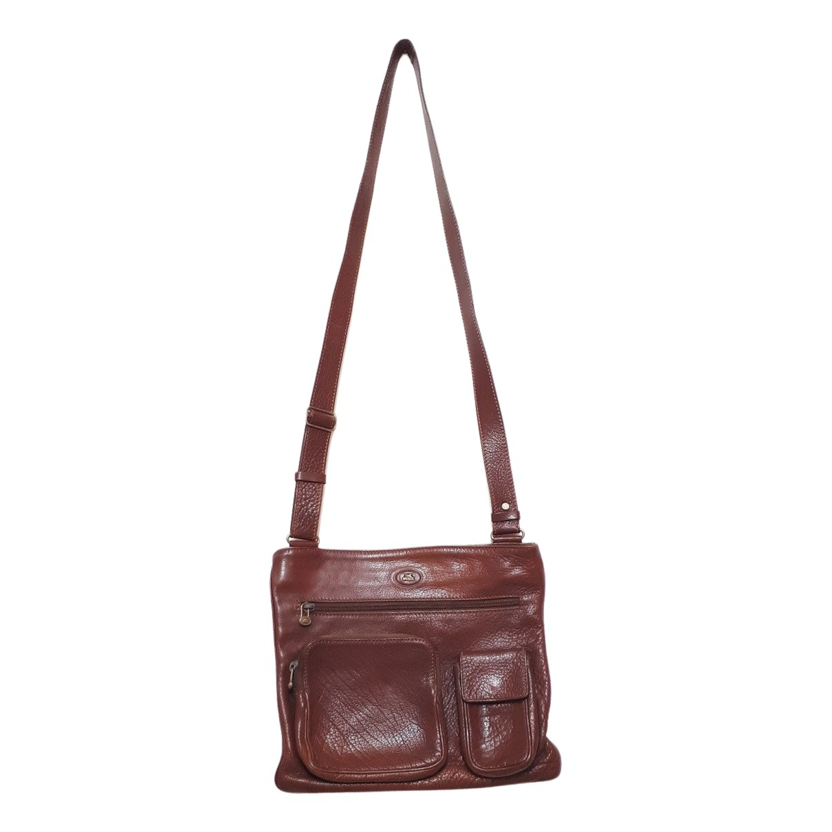Non Signé / Unsigned N Brown Leather bag for Men N