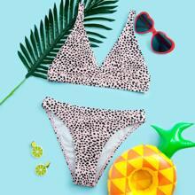 Girls Dalmatian Triangle Bikini Swimsuit