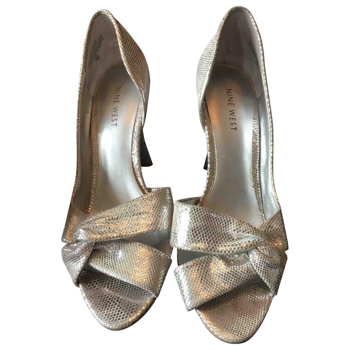 Nine West \N Metallic Leather Heels for Women 38 EU