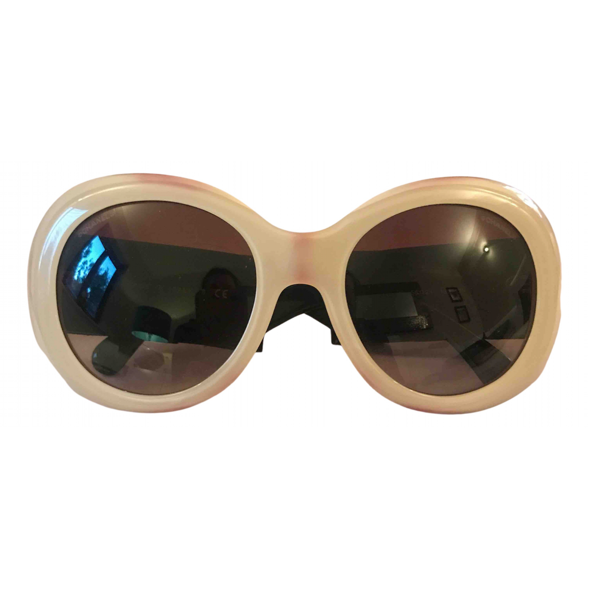 Chanel \N Sonnenbrillen in  Beige Kunststoff