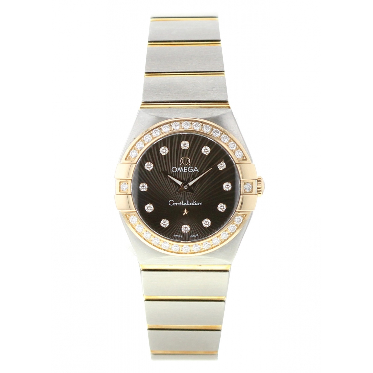 Omega Constellation Black gold and steel watch for Women \N