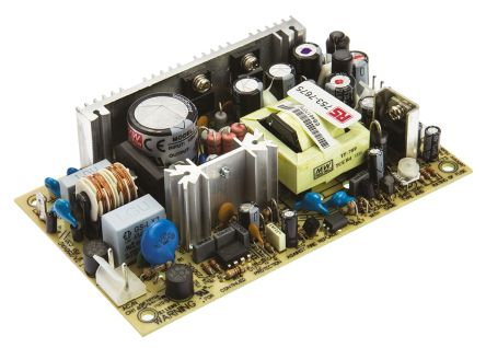 Mean Well , 42.6W Embedded Switch Mode Power Supply SMPS, 5 V dc, ±12 V dc, Open Frame, Medical Approved