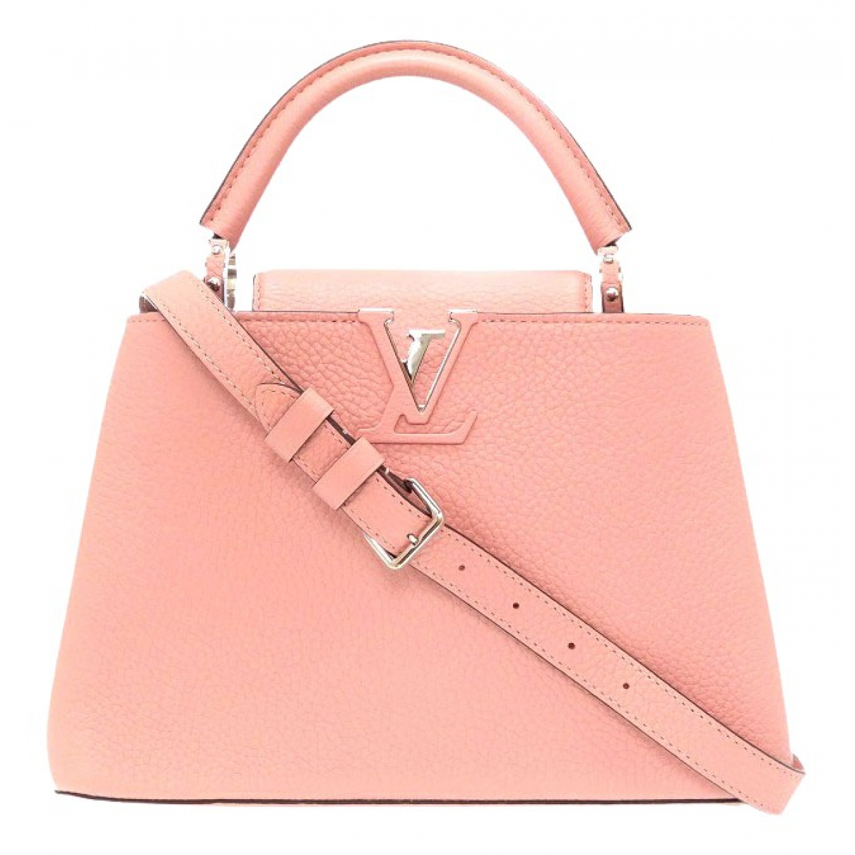 Louis Vuitton Capucines Pink Leather handbag for Women \N