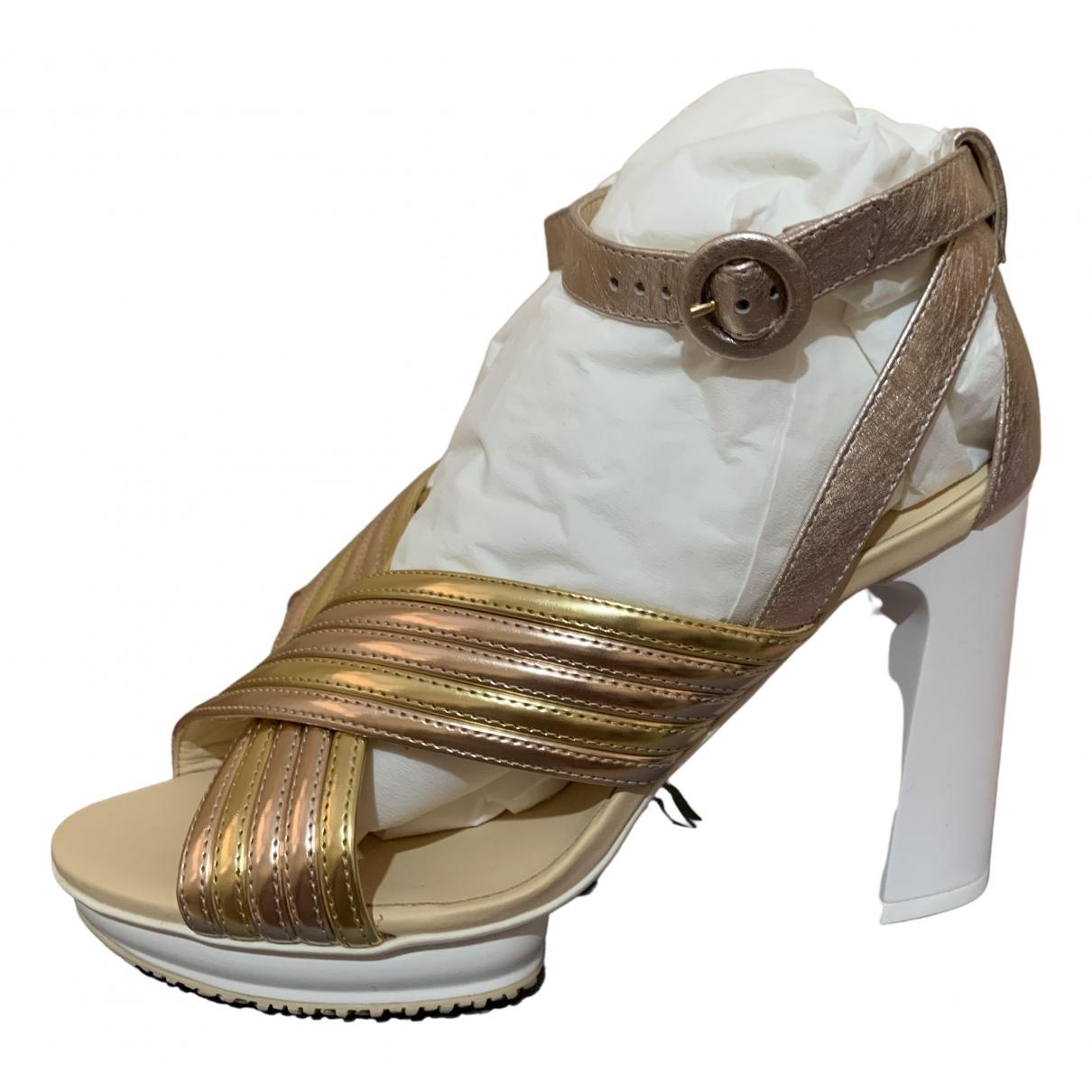 Hogan \N Pumps in  Gold Leder