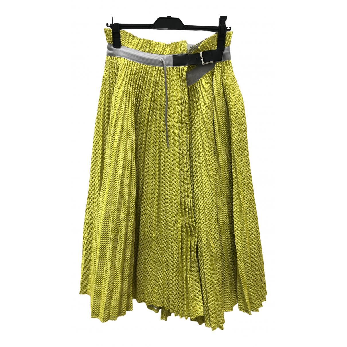 Sacai \N Rocke in  Gelb Polyester