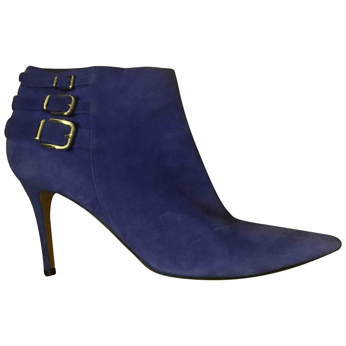 Gianvito Rossi - Boots   pour femme en suede - violet