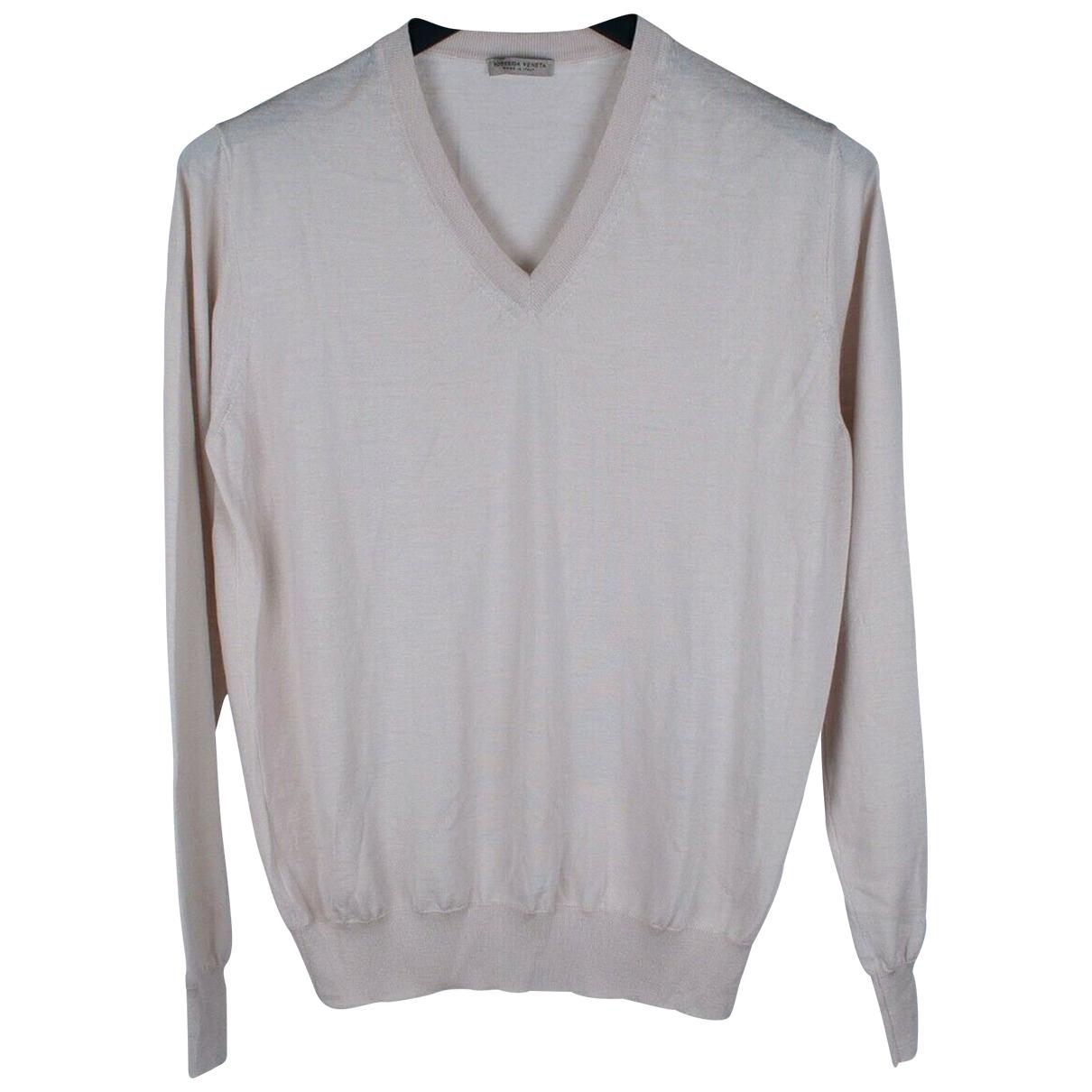 Bottega Veneta \N Pullover.Westen.Sweatshirts  in  Beige Wolle