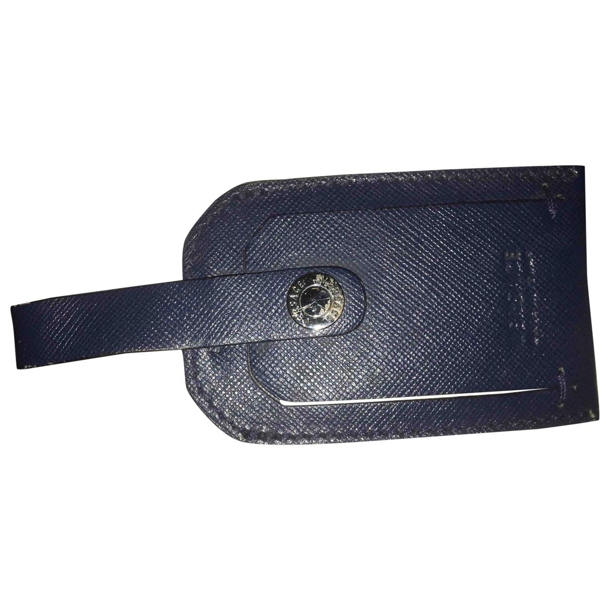 Versace - Petite maroquinerie   pour femme en cuir - bleu