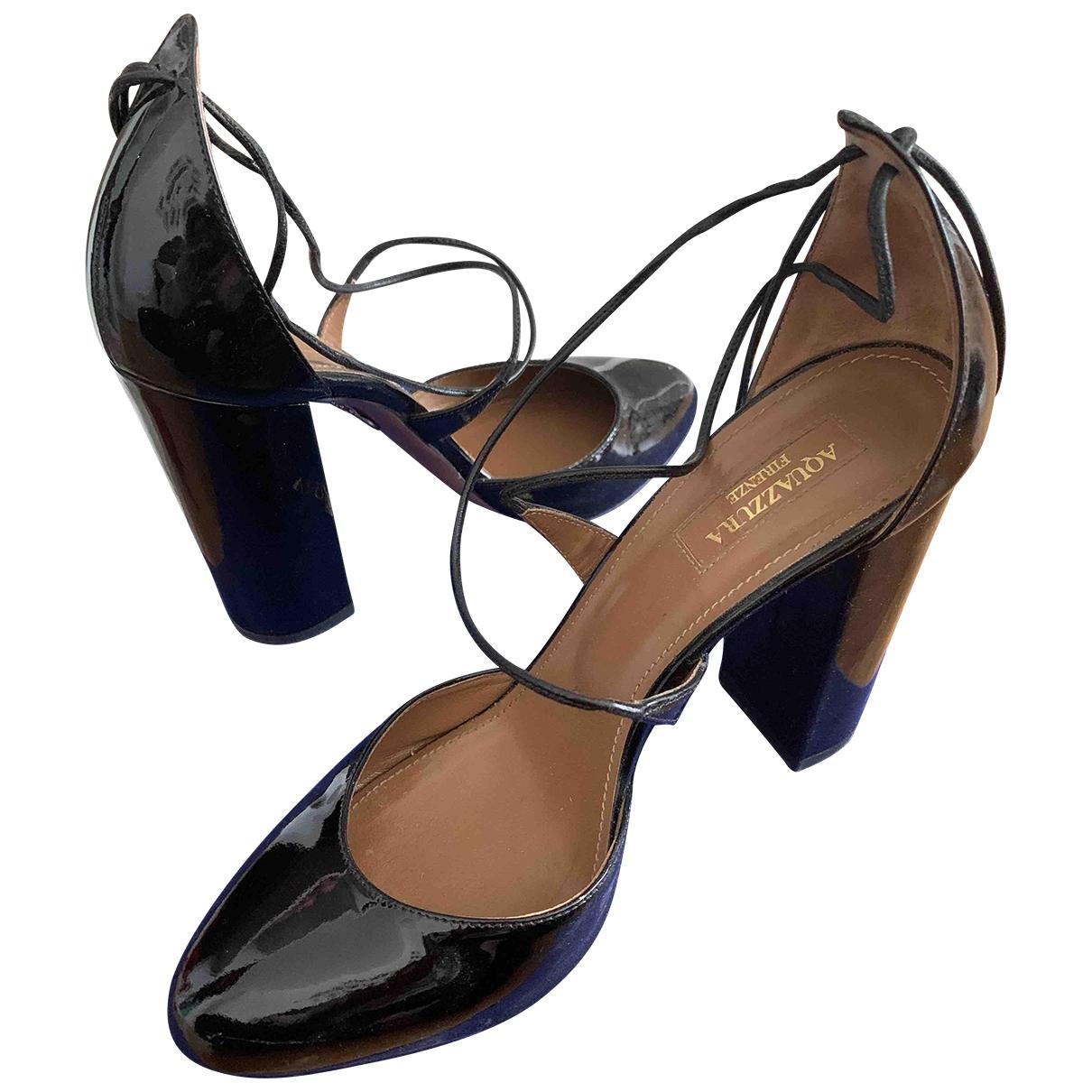 Aquazzura \N Black Patent leather Heels for Women 39 IT