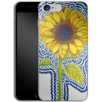 Apple iPhone 6s Plus Silikon Handyhuelle - Sunflower Drawing von Kaitlyn Parker