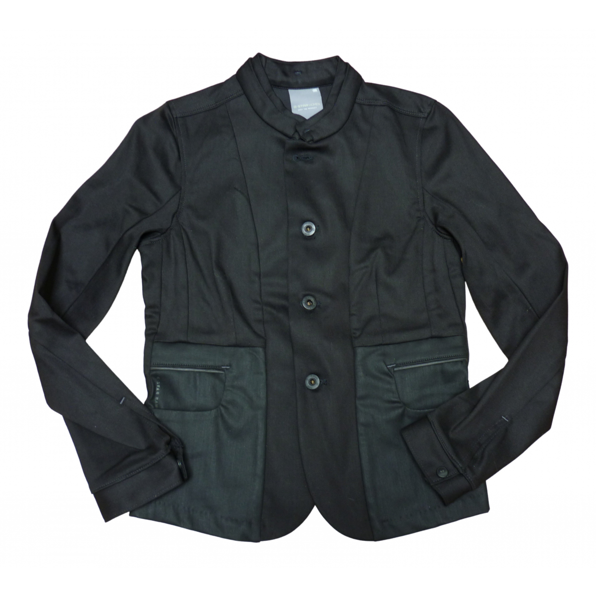 Non Signé / Unsigned N Black Cotton jacket for Women XS International