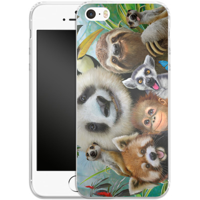 Apple iPhone 5 Silikon Handyhuelle - Zoo Selfie von Howard Robinson