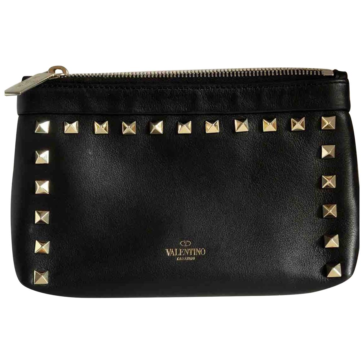 Valentino Garavani \N Black Leather Purses, wallet & cases for Women \N