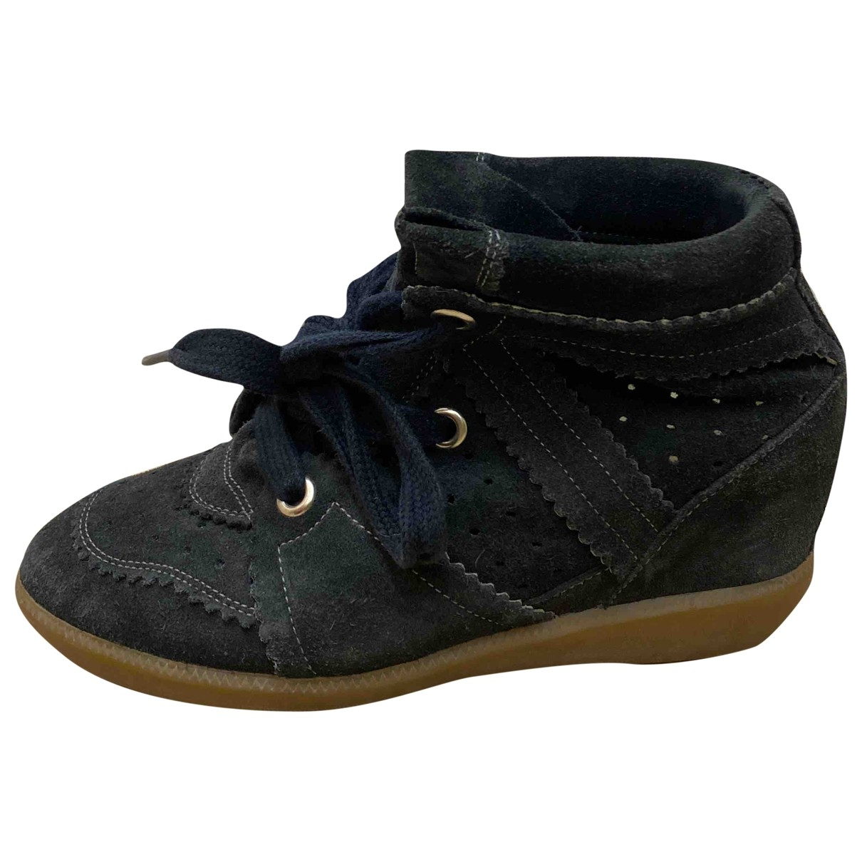 Isabel Marant Betty Black Suede Trainers for Women 36 EU