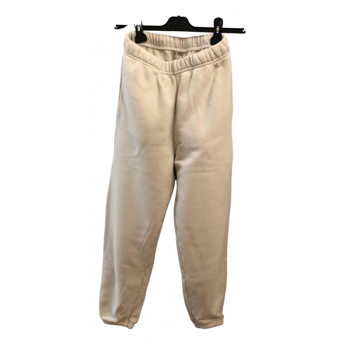 Les Tien \N White Cotton Trousers for Women XXS International