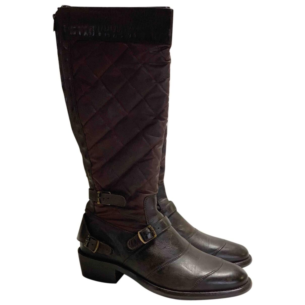 Belstaff - Boots   pour femme en cuir - marron