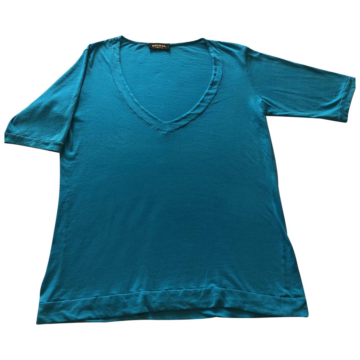 Diesel Black Gold \N T-Shirts in  Tuerkis Baumwolle