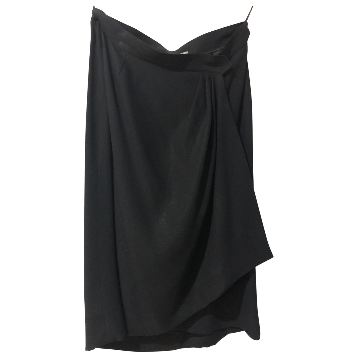 Yves Saint Laurent \N Black Cotton - elasthane skirt for Women 44 FR
