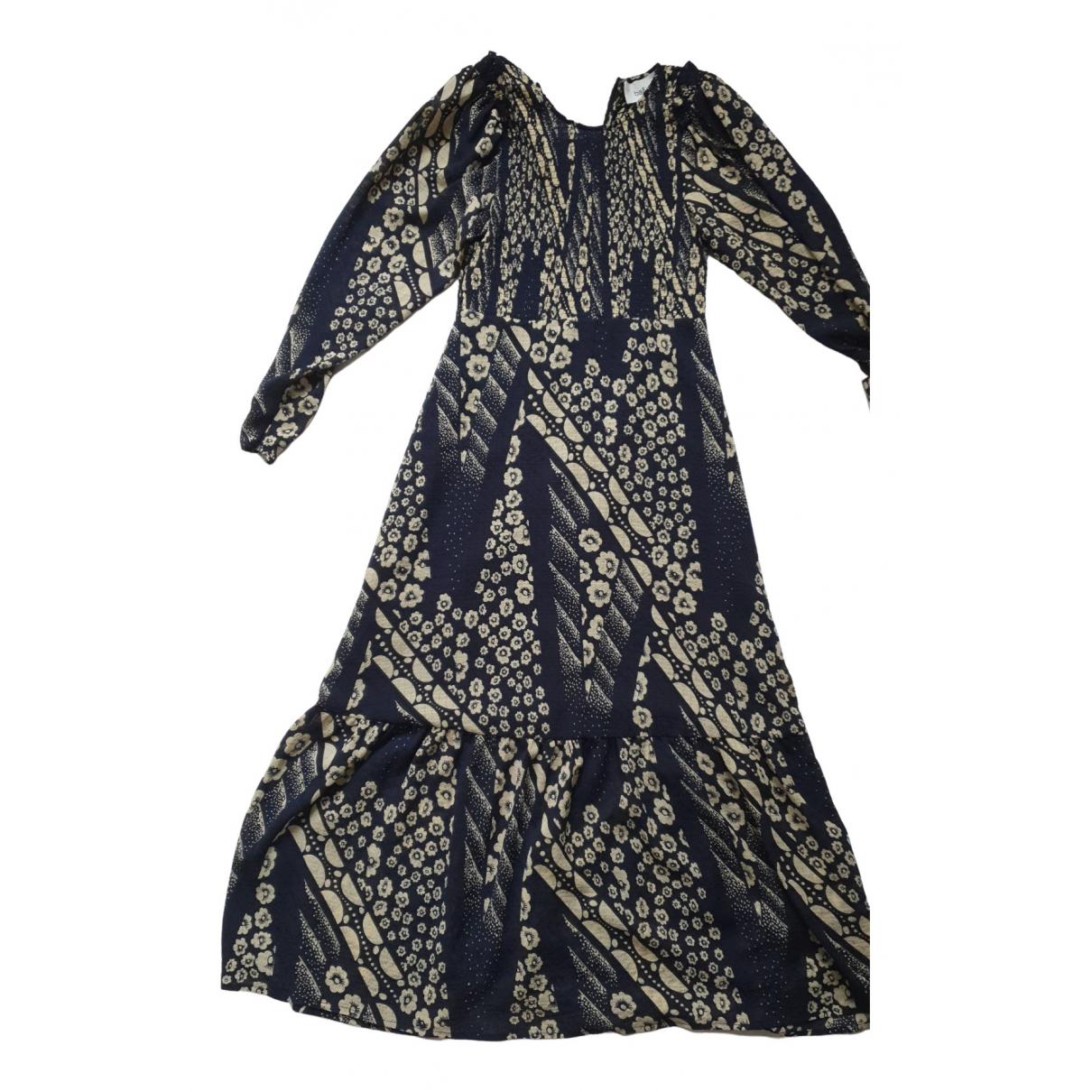 Ba&sh - Robe Fall Winter 2019 pour femme en soie - marine