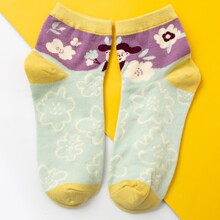 Color Block Graphic Socks