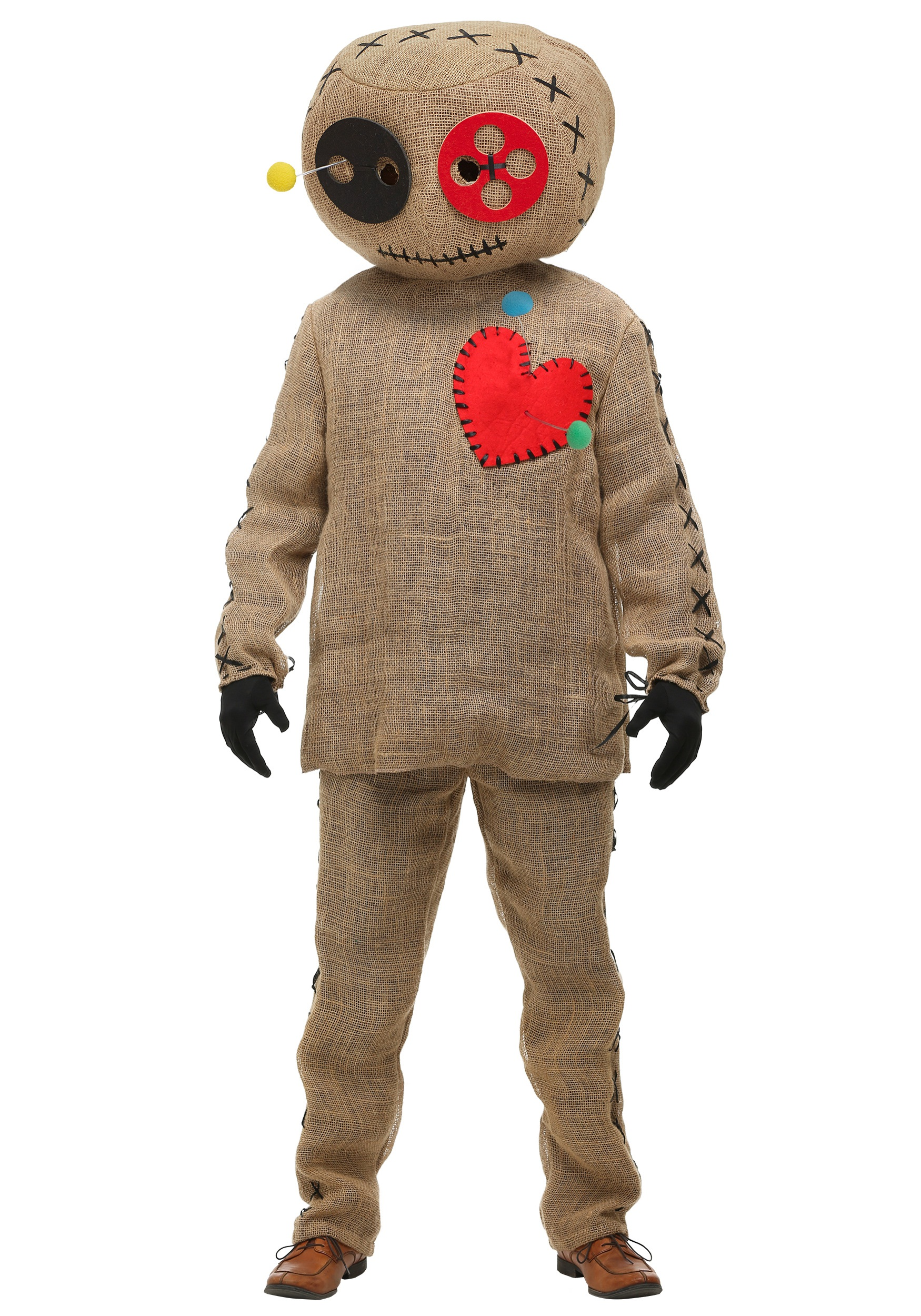 Burlap Voodoo Doll Costume for Adults