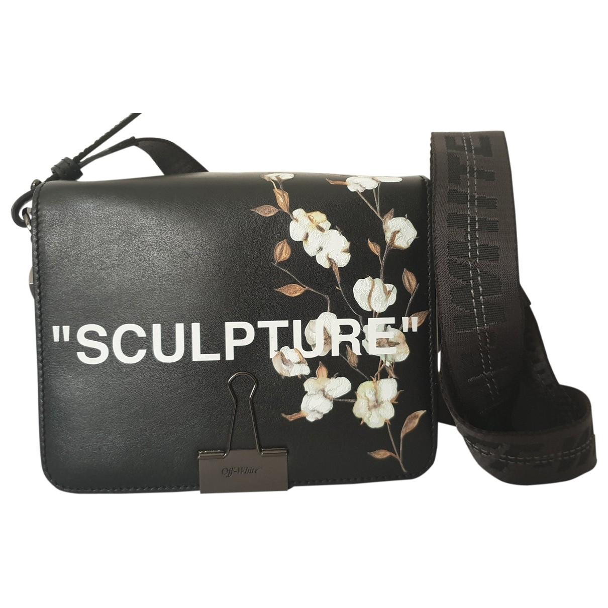 Off-white Binder Black Leather handbag for Women \N