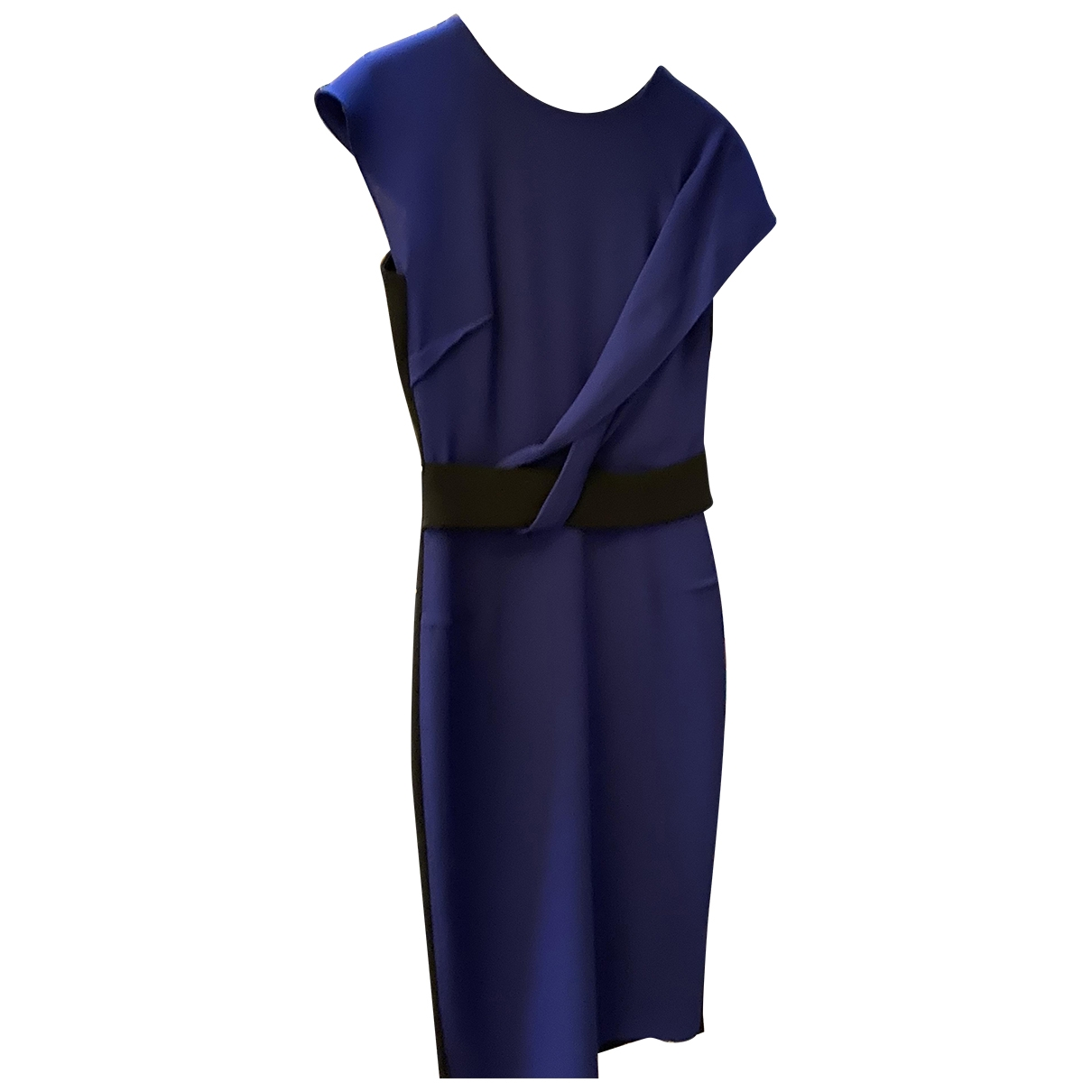 Roland Mouret \N Blue Silk dress for Women 40 IT