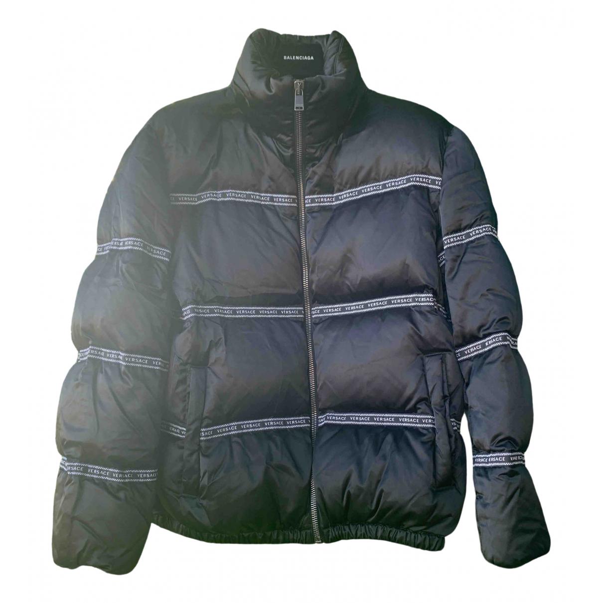 Versace - Manteau   pour homme en coton - noir