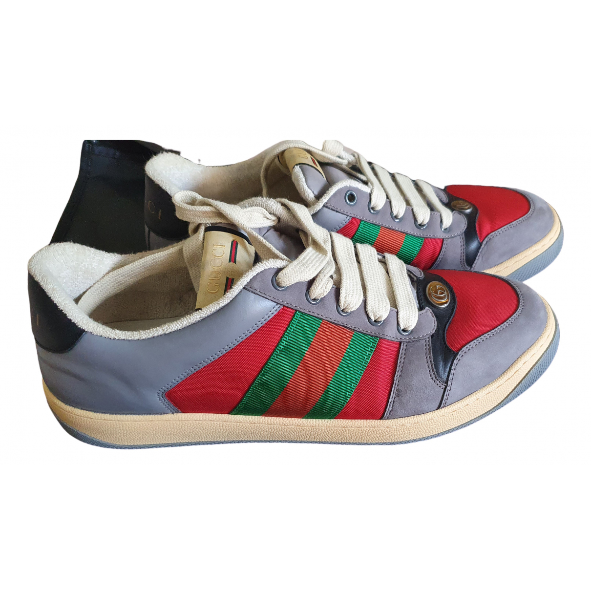 Gucci Screener Multicolour Leather Trainers for Men 10 UK