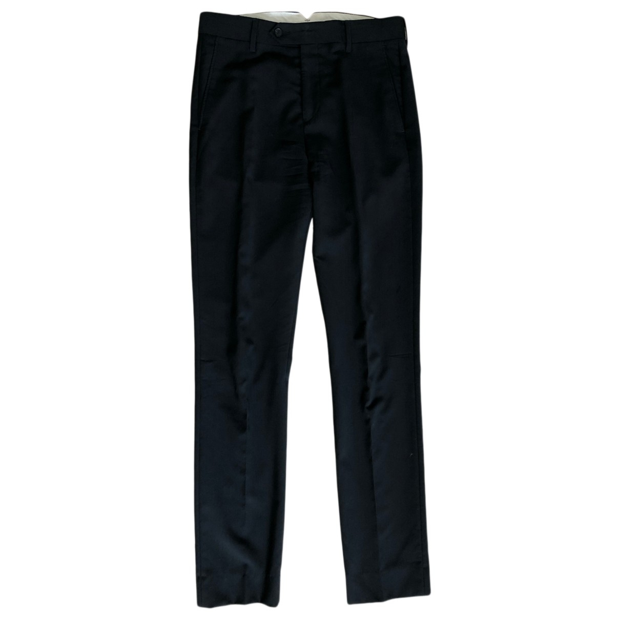 Acne Studios \N Black Wool Trousers for Men 46 FR