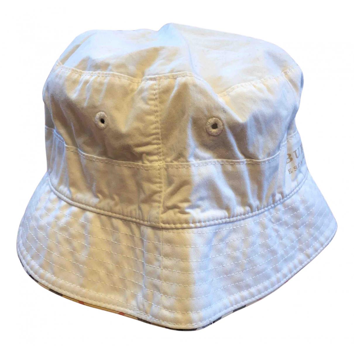 Burberry - Chapeaux.Bonnets.Gants   pour enfant en coton - blanc