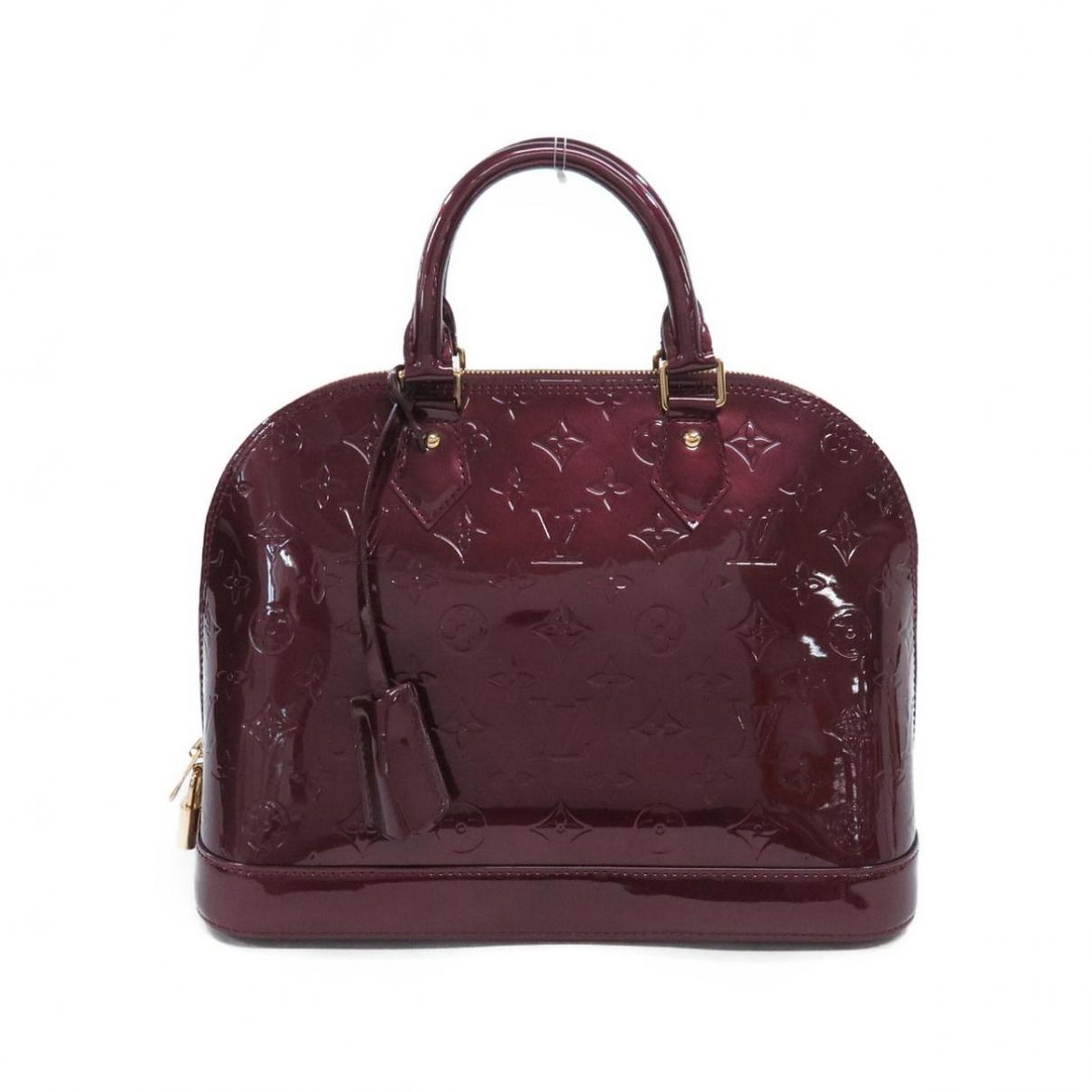 Louis Vuitton Alma Burgundy Patent leather handbag for Women \N