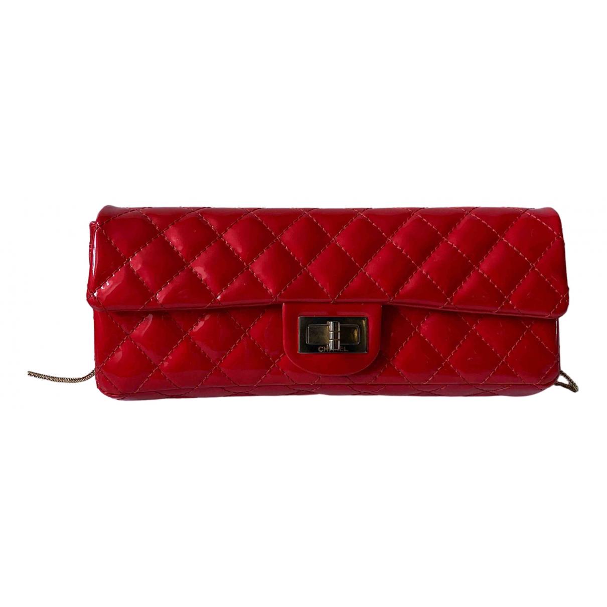 Chanel - Sac a main   pour femme en cuir verni - rouge