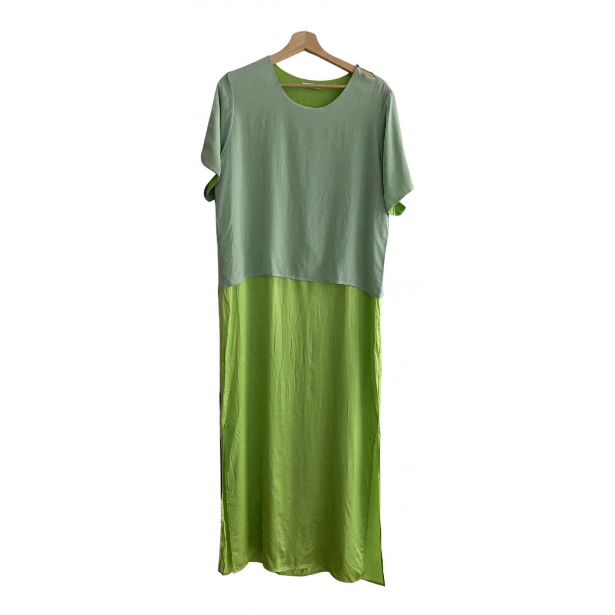 Maxi vestido de Seda Perret Schaad