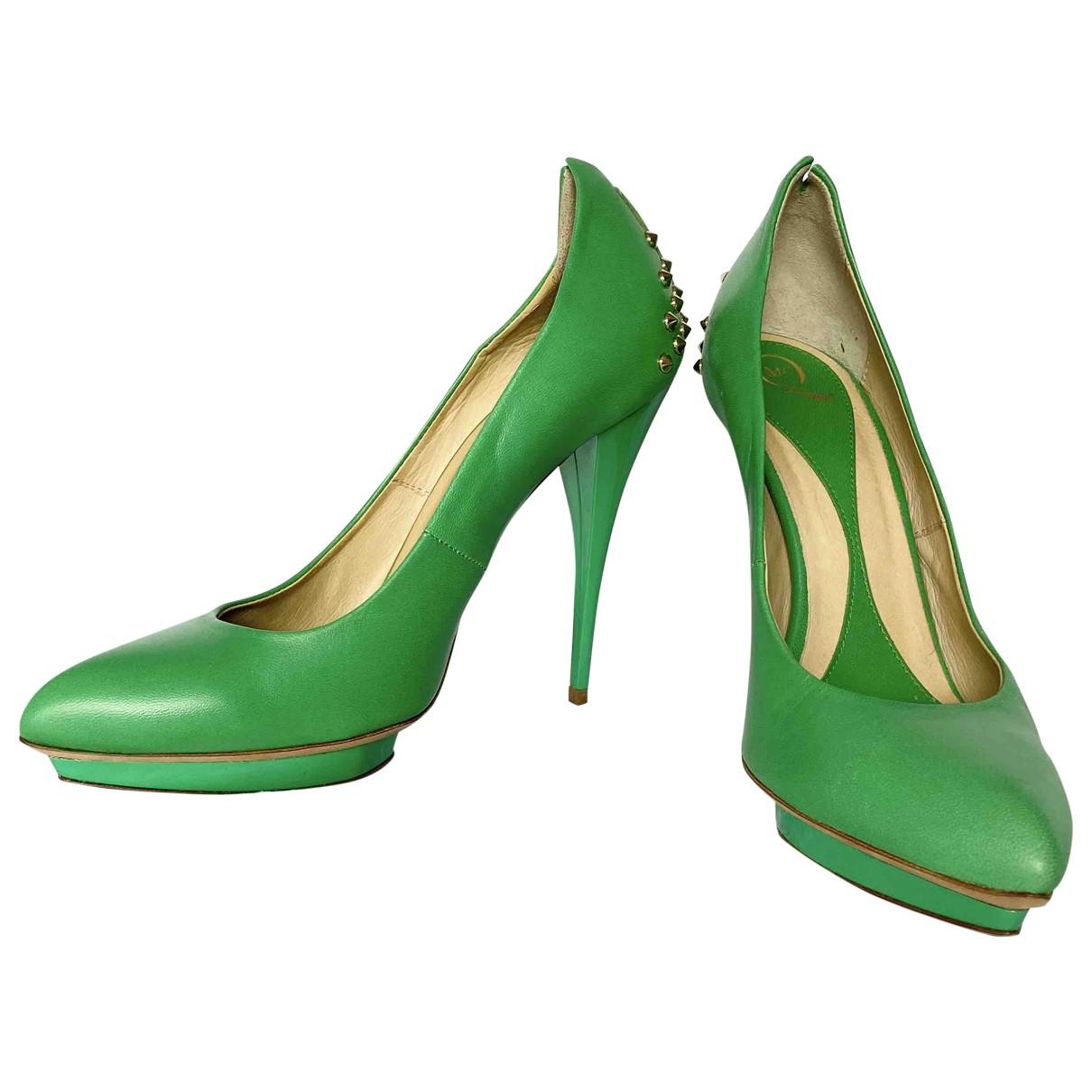 Mcq - Escarpins   pour femme en cuir - vert