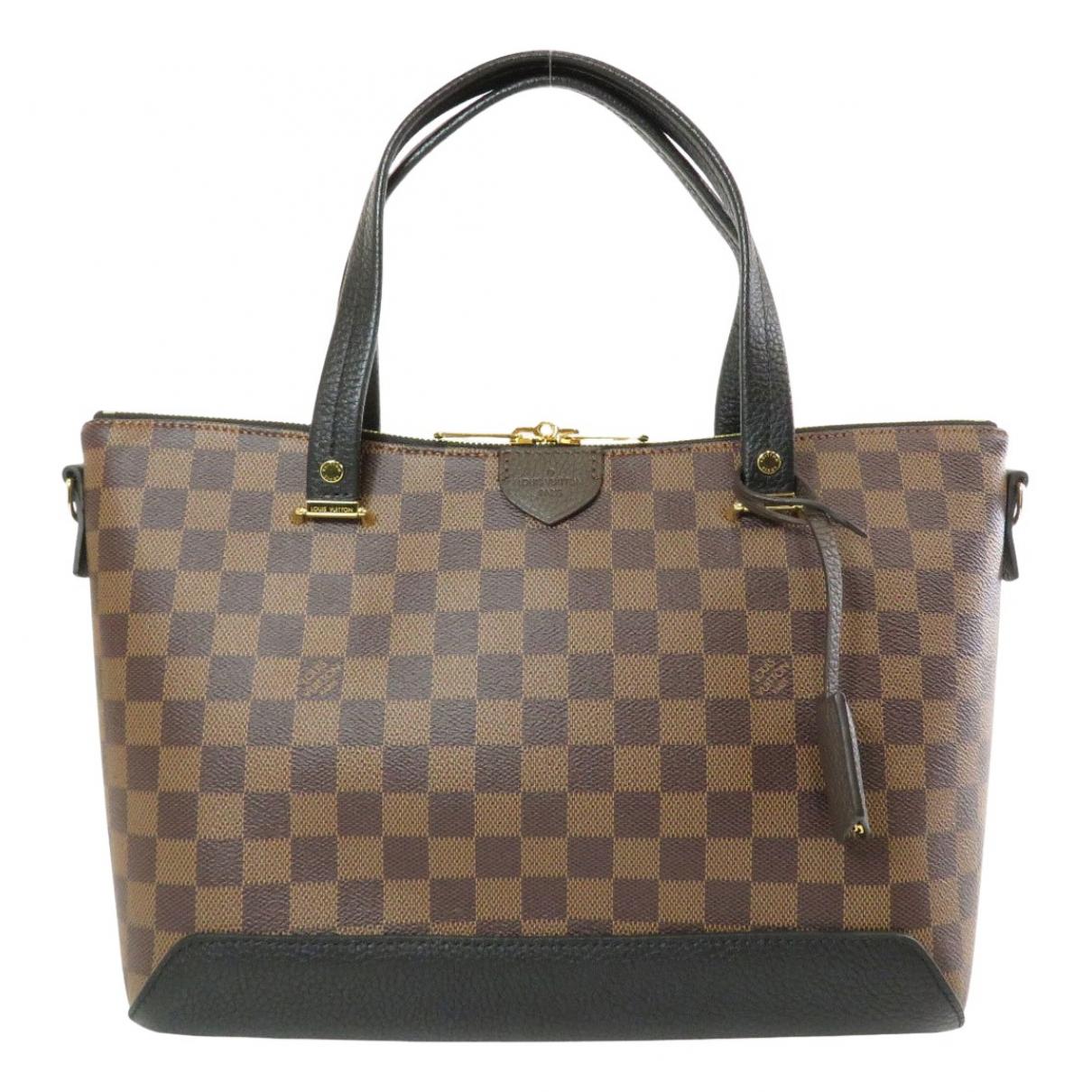 Louis Vuitton Hyde Park Handtasche in  Braun Leinen