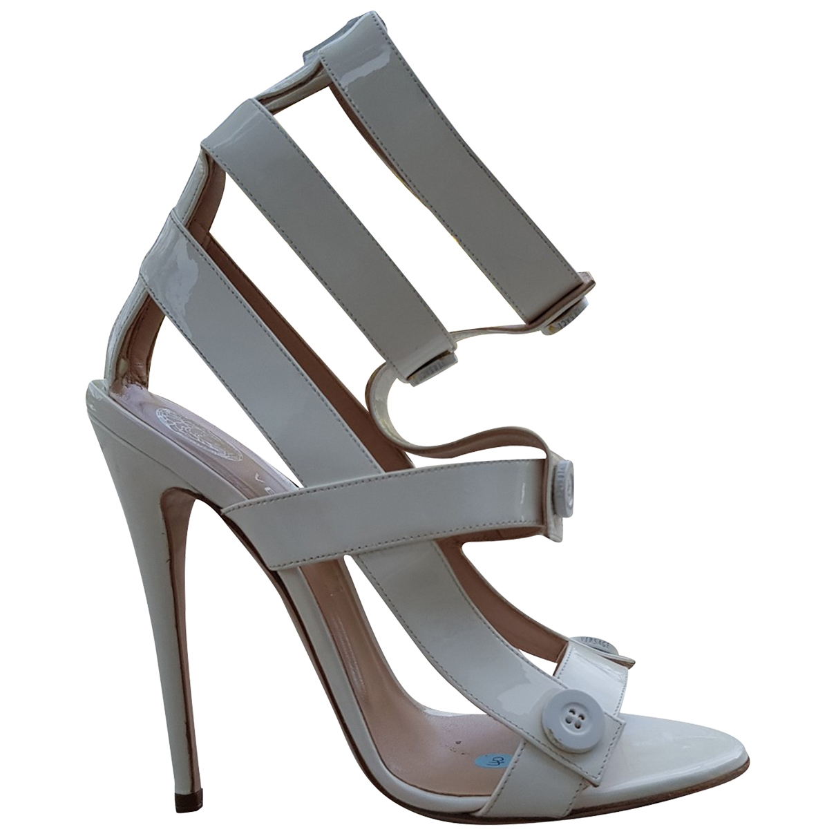 Versace \N White Patent leather Sandals for Women 40 EU